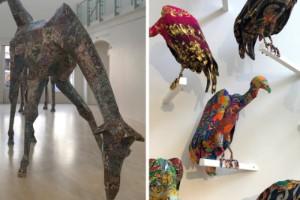 Burkfåglar, sjalgamar och mattgiraffer på konsthallen