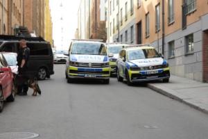 """Större polisinsats i stan - """"fick indikationer"""""""