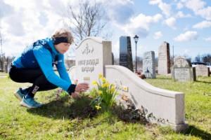Marie springer lopp för att hedra sin pappas liv