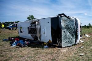 Minst en svensk skadad i olycksbuss i Tyskland