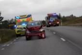 Trafikolycka på väg 210 – ingen skadad