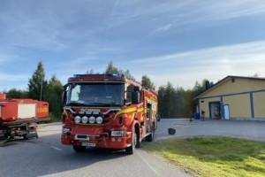 Rökutveckling i butik i Piteå