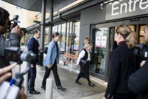 """Kronprinsessparet besökte Kullbergska sjukhuset: """"Det känns jätteviktigt att få komma hit"""""""