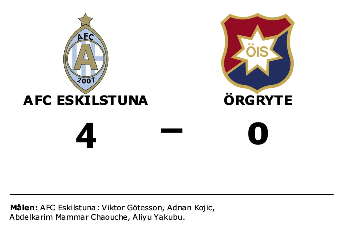 AFC Eskilstuna tog kommandot från start mot Örgryte