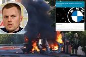 BMW återkallade Sebastian Larssons bilmodell på grund av brandrisk
