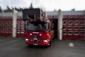 Larm om bilbrand i Råneå