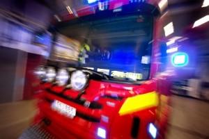 Brand i timmerbil släcktes snabbt