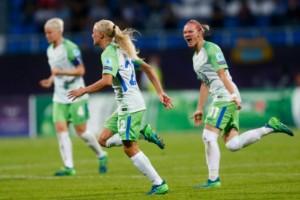 Wolfsburg cupmästare – med Lindahl på bänken