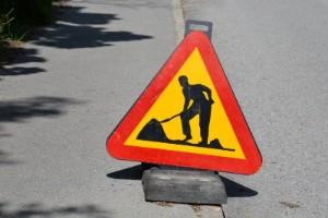 Gata i Flen stängs av under vägarbete
