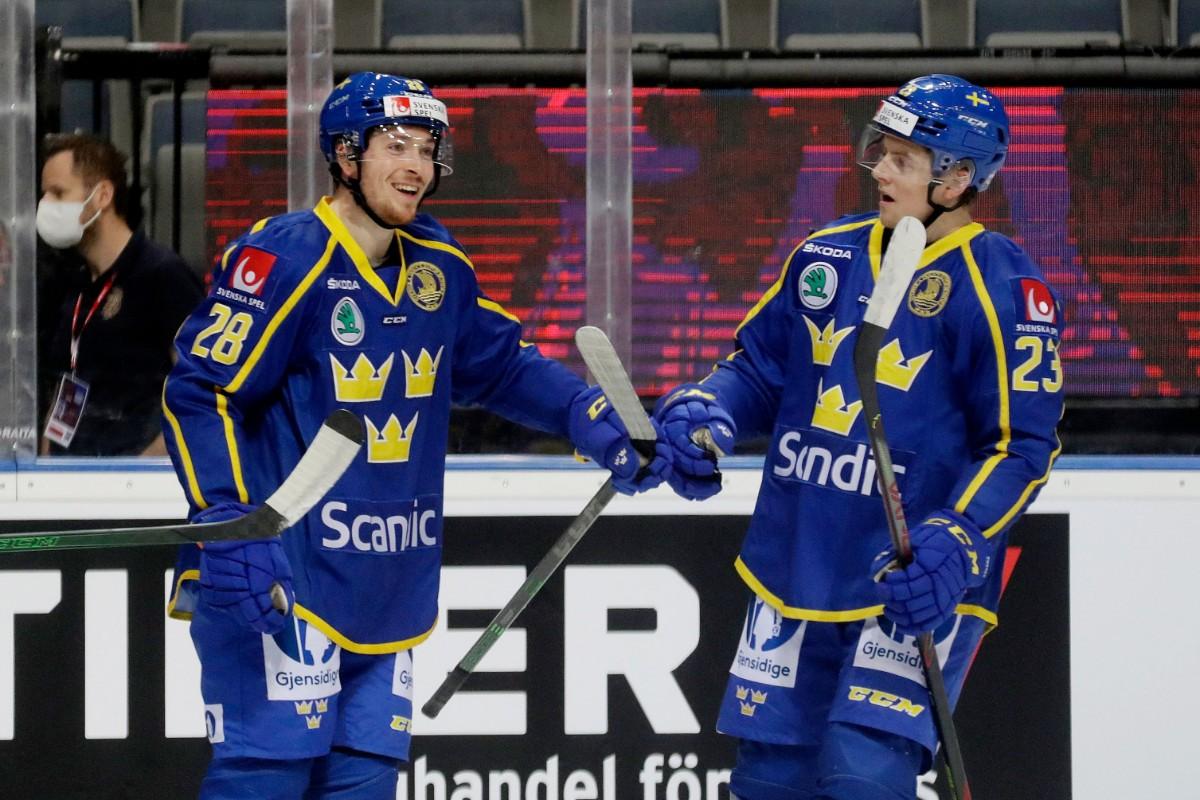Tre Kronor besegrade Finland efter Frödéns mål