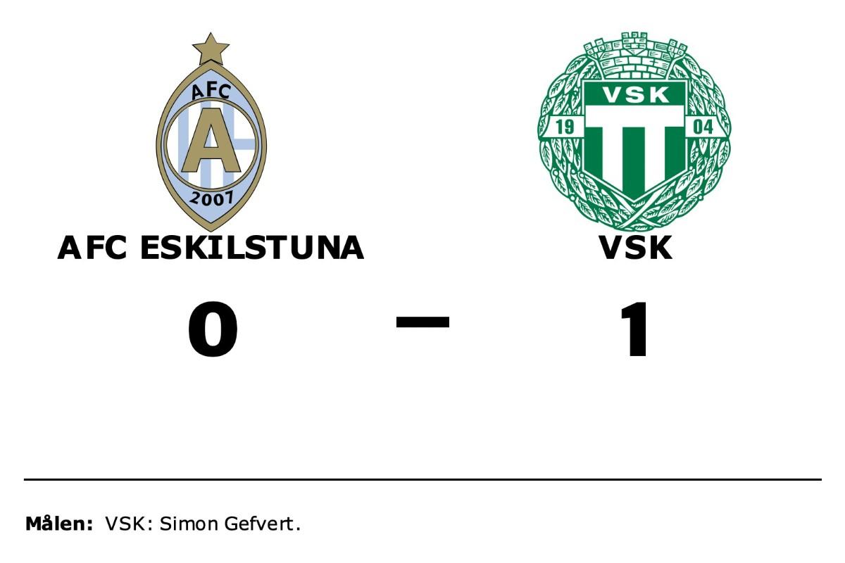 AFC Eskilstuna föll mot VSK på hemmaplan
