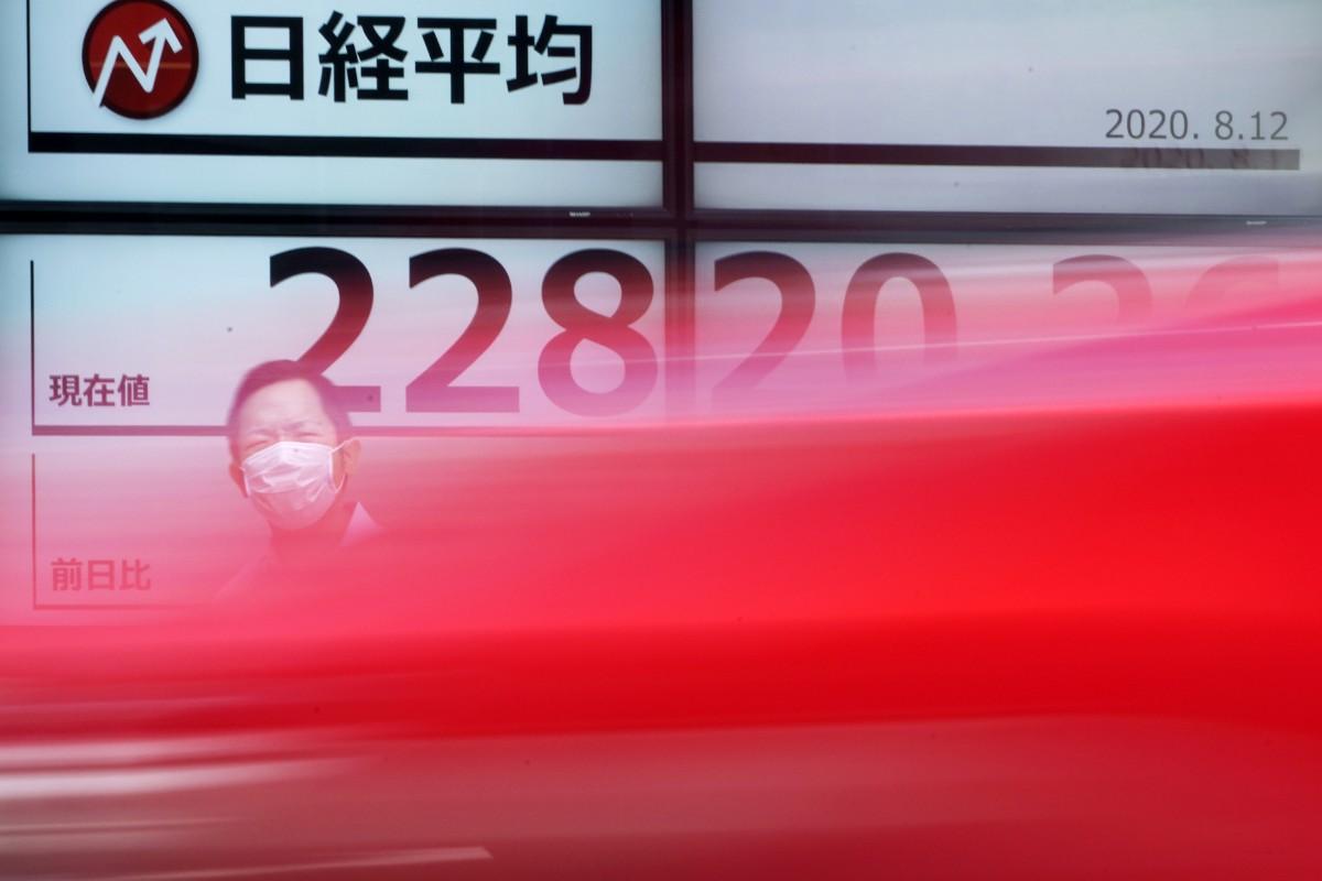 Svagt nedåt på börserna i Asien