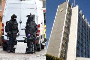 Efter upptäckten – bombskyddet kallades till polishuset
