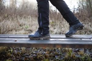 Snöra dina vandringskängor