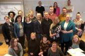 Det här glada gänget deltar på Socialdemokraternas medlemsutbildningar på Sunderby Folkhögskola under helgen 17-18 oktober.