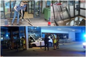 Berusad lekte med bilen – kraschade in i butik