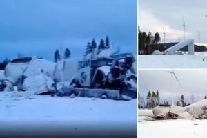 """Incident utanför Jörn i natt – vindkraftverk kollapsade och kraschade i marken: """"En chock för oss"""" • Se tv-klipp från platsen"""