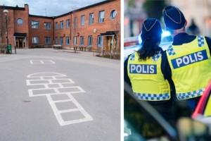 Poliser skrev autografer efter dramat på skolgården