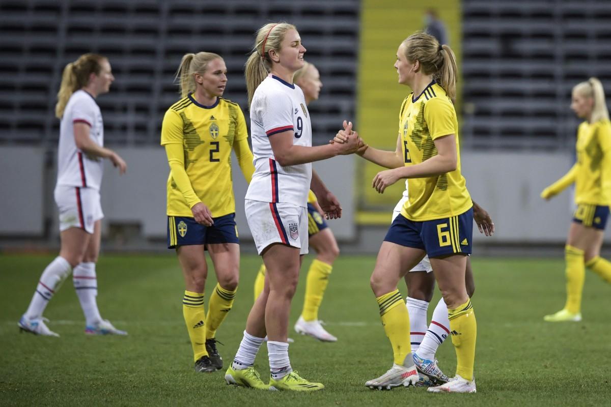 Sverige mot USA i OS-fotbollen