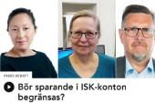 """Tove Lifvendahl, Svenska Dagbladet, Elisabeth Sandlund, Dagen, och Olov Abrahamsson, NSD, gav sin syn på saker och ting i veckans upplaga av """"God morgon, världen!"""" i P1."""